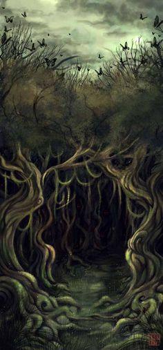 Hobbit Illustration - Mirkwood