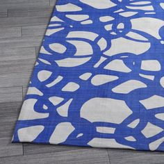 Mallorca Blue Rug  | Crate and Barrel