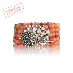 Heirloom Coral Stretch Bracelet, I have the perfect maxi dress for this bracelet!