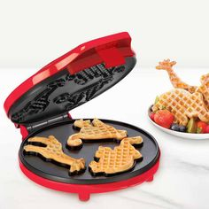 Mini Circus Waffle Maker Red // I want this! How fun!