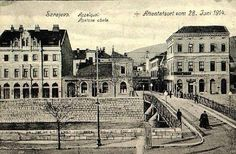 Schiller delicatessen on right of bridge