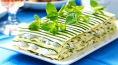 Summer Squash Recipes / Zucchini Lasagna with Herbed Cheese