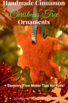 Handmade Cinnamon Christmas Tree Ornaments:  | Golden Reflections Blog   #Christmas  These might be good for family members or neighbors.