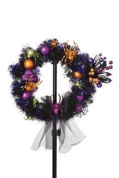 Glitter & Ghouls: Halloween Glittered Spider Wreath