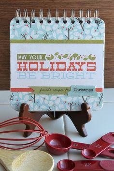 holiday favorites recipe book with free recipe card printable