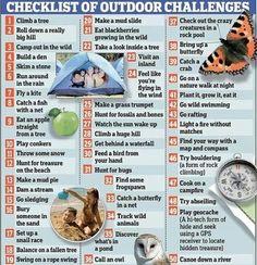 kids outdoors, challenges, summer list, activities for kids, outdoor challeng, outdoor kids, scavenger hunts, outdoor fun, bucket lists