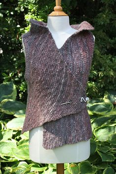 Ravelry: Asymmetrical Vest in Garter Stitch pattern by Denise Kovnat