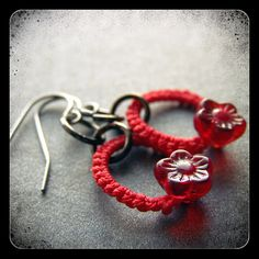 CHARLOTTE earrings - cherry and crimson.