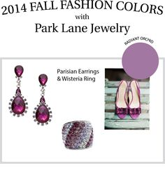 Are you ready for Fall? We are! Check out this year's fall pantone colors with Park Lane Jewelry! #Fall #fashion #parklanejewelry