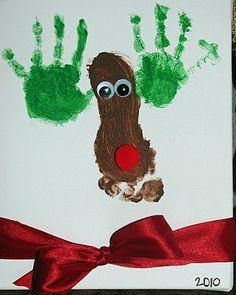 Hand & Foot print reindeer