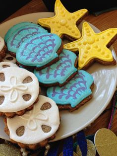 Under the Sea Cookies - good idea for under the sea themed name tags