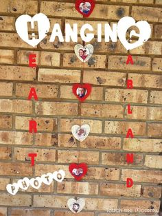 Hanging Heart Photo Garland - Teach Me Mommy