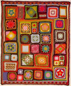 vintage crochet pattern for granny square afghan, and I have the vintage magazine this comes from. Awesome. #crochet #blanket #grannysquare