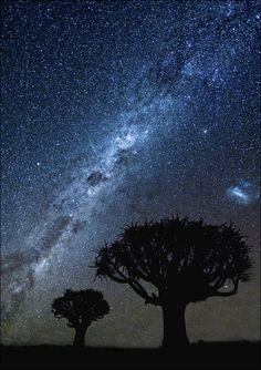 The Milky Way, as seen over Namibia. Great lesson in humility!