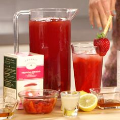 3 HEALTHY SPINS ON ICED TEA: ~1~JASMINE LIME: Jasmine tea, Filtered water, 2 limes, Agave nectar, Ice; ~2~STRAWBERRY HIBISCUS: Hibiscus tea, Strawberries, Honey, 1 lemon, Ice; ~3~POM. WHITE SPARKLER: White tea, Pom juice, Agave, Sparkling water, Ice