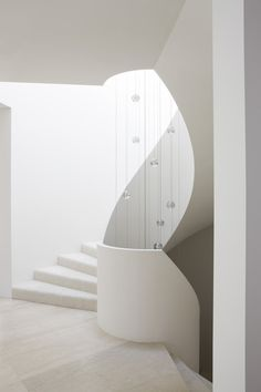 Staircase by Robert Mills Architecture with Bocci 14 Pendant