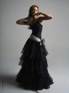 Elegant tier black gown