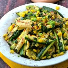 zucchini pasta, gluten free vegan, salad recipes, pasta salad, fiesta, zucchini salad, summer corn, pastas, healthy recipes