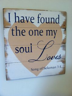 """Two become One - Soul Loves 13""""w x14""""h hand-painted wood sign"""