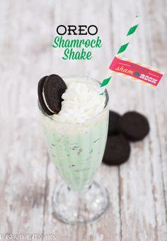 Oreo Shamrock Shake - the perfect St. Patrick's Day treat!