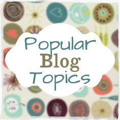 Blog topic list