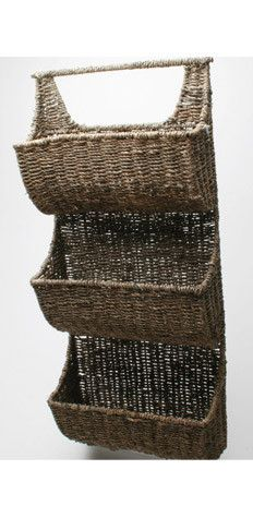 Seagrass 3 part wall basket
