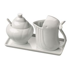 Whale Cream & Sugar Set