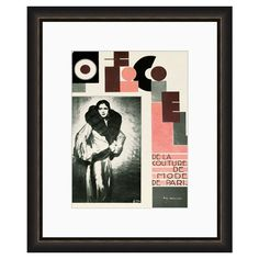 Wall art with a retro ad motif.   Product: Wall artConstruction Material: Wood, glass and acid free archival paper