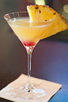 Pineapple Upside-down Cake Martini  Ingredients:    2 ounces wedding cake vodka (trust me – this stuff is good!)  1 ounce pineapple juice  1 drop grenadine syrup  pineapple & cherry for garnish