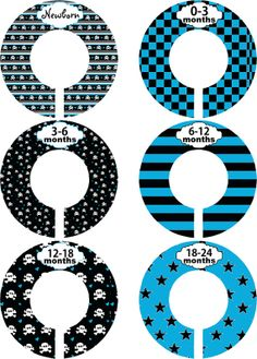 Custom Baby Closet Dividers Boy Pirate by LittleLillyBugDesign, $9.00