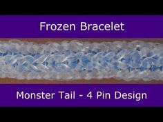 Monster Tail® FROZEN Bracelet. Designed by Choons Design/Rainbow Loom. Tutorial and looming by Suzanne Peterson. Click photo for YouTube tutorial. 07/11/14.