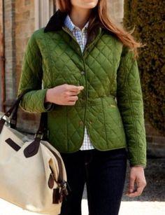Adore the green jacket, so prep