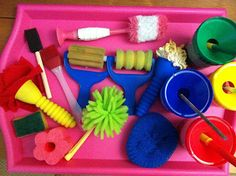 See how fun Indoor/Outdoor painting Utensils can be.