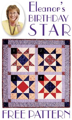 Eleanor's Birthday Star Free Pattern!