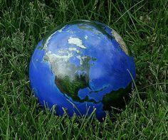 Bowling Ball, Garden Art, Globe, World, Earth, Earth Day, Gazing Ball
