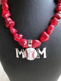 Baseball Mom Pendant check out www.countrygirlbling.etsy.com