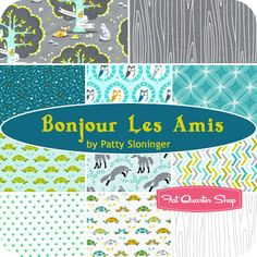 Bonjour Les Amis by Patty Sloninger for Michael Miller Fabrics