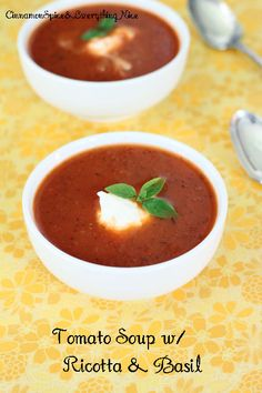 Tomato Soup with Ricotta Cheese