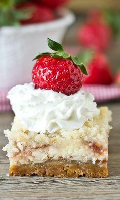 shortcak cheesecak, cheesecakes, cheesecake bars, food, strawberries, strawberry shortcake, cheesecak bar, dessert, strawberri shortcak
