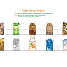 FREE Printable woodland animal finger puppets