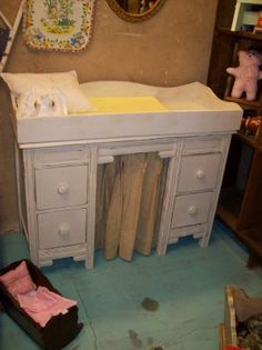 shabby changing table