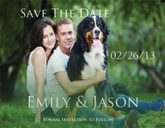 Couple with Pet Save The Date Magnet by TreasuredMoments