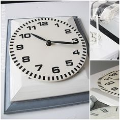 DIY clock made from CDs