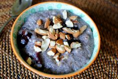 Cherry Almond Chia Seed Pudding Recipe --- Healthy + Really easy to make + Super simple clean up! Great for breakfast OR dessert. <3