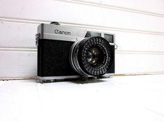 Vintage Camera Canon Canonet 35mm by GoodBonesVintageCo on Etsy, $72.00