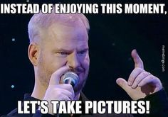 Jim Gaffigan ruins the moment with pictures.