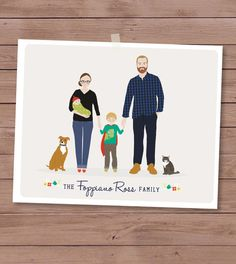 This talented artist creates Custom family portraits that are so sweet!