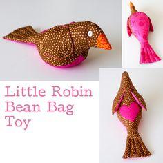 Robin Bean Bag Toy