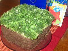 Minecraft Dirt Block Cake!