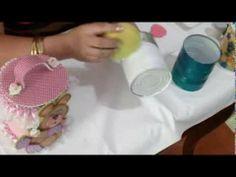 """▶ Técnicas de Reciclaje """"Potes de Latas"""" / Aprender con Rossana - YouTube"""